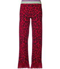 lurex animalier jack knit pants