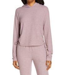 women's project social t easy livin cozy hoodie, size medium - purple