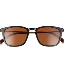 david beckham eyewear eyewear by david beckham 53mm rectangular sunglasses in black/silver /gray polarized at nordstrom
