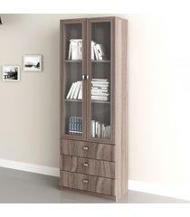 armário para escritório 2 portas 3 gavetas  carvalho me4114  - tecno mobili