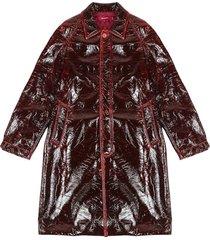 blaine lacquered raglan coat
