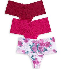 3-pack lace thongs
