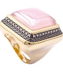 anel fane's quartzo rosa