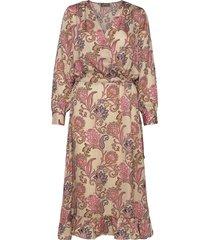 chita weave dress maxi dress galajurk multi/patroon mos mosh