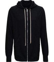 rick owens black cashmere hoodie