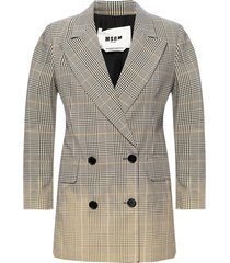 patterned blazer with notch lapels