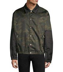 camo coach jacket