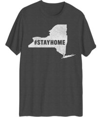 hybrid men's new york stayhome short sleeve t-shirt