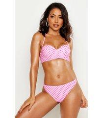 mix & match polka dot bikini brief, pink