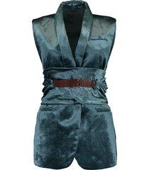 crush velvet shawl lapel vest