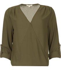 overslag blouse guase  groen