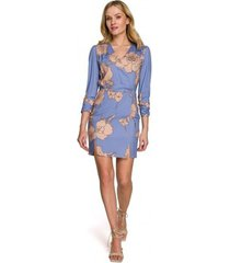 korte jurk makover k096 mini jurkje met wikkel top - model 2