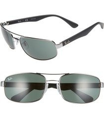 ray-ban 61mm square sunglasses - grey