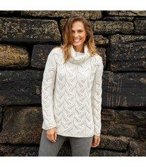 the comeragh cream aran sweater xxl