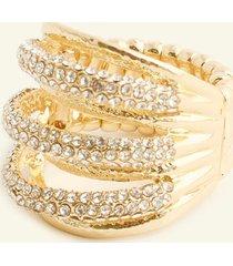 anillo sencillo con cristales. uni