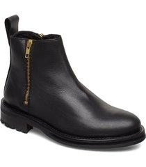 bonnt shoes boots ankle boots ankle boots flat heel svart tiger of sweden