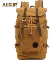 mochila para hombre, mochila con cordón en la espalda bolsa