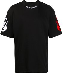 vision of super reflective double fire t-shirt - black