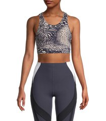 women's vimmia x stingray sports bra - purple combo - size xs