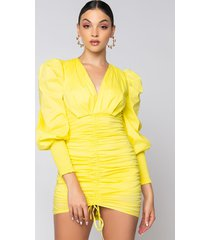 akira all up from here mini ruched dress
