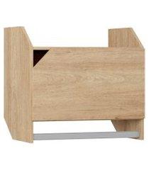 armário c/ porta e cabideiro carvalho mel be mobiliário bege