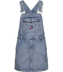dungaree dress crlt kort klänning blå tommy jeans