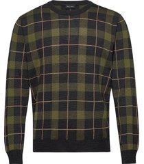 5469 - iq stickad tröja m. rund krage grön sand