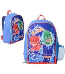 mochila pre escolar celeste pj masks
