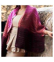 silk scarf, 'wine evolution' (thailand)