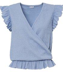 maglia a portafoglio (blu) - bodyflirt