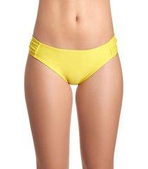 bikini calzón con drapeado amarillo samia