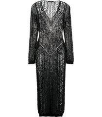 mes demoiselles sacramento full-length knitted top - black