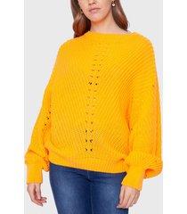 sweater ellus amarillo - calce oversize