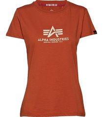new basic t wmn t-shirts & tops short-sleeved röd alpha industries