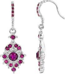 2028 silver-tone drop earrings