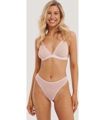 na-kd lingerie trosa i prickig mesh - pink