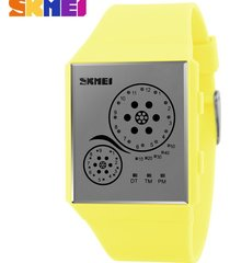 hombres y mujeres = reloj impermeable led-amarillo