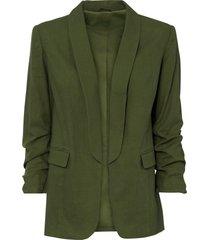 blazer in lino (verde) - bodyflirt