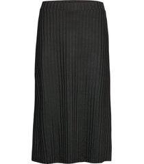 paolina skirt knälång kjol svart stylein