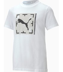 active sports graphic t-shirt, wit, maat 128 | puma