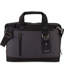 tumi women's burke port nylon briefcase - grey