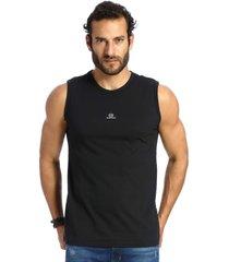 camiseta vlcs regata gola redonda preta
