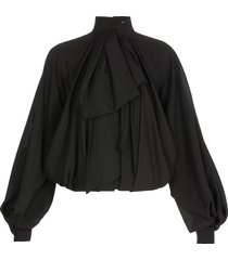 balmain draped blouse