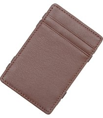 royce new york leather magic wallet - brown
