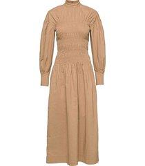 cotton canvas maxiklänning festklänning beige ganni