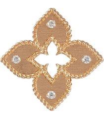 venetian princess' diamond 18k rose gold stud earrings