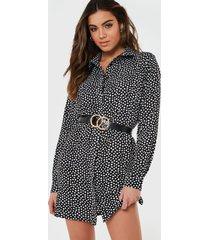 vestido missguided oversized basic shirt dress d negro - calce oversize