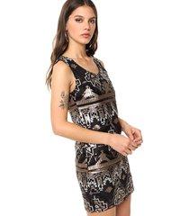 vestido cobre sophya geo lentejuelas
