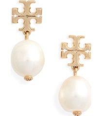 women's tory burch kira genuine pearl drop earrings
