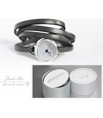 prezent - zegarek - dots - szary